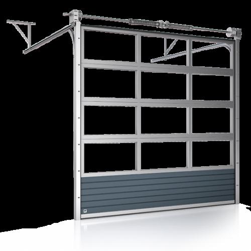 Brama przemysłowa przeszklona aluminiowa