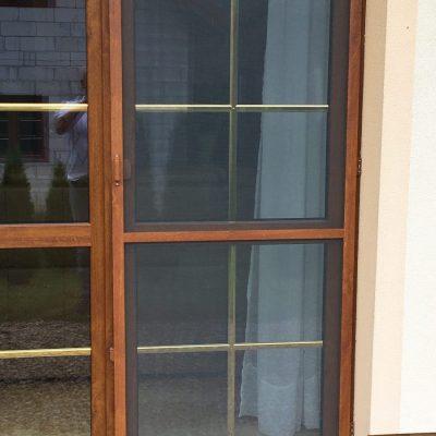 Drzwi siatkowe złoty dąb